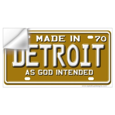Made in Detroit Wall Decal