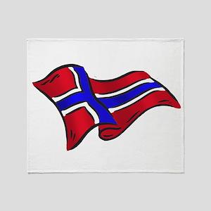 Flag of Norway Throw Blanket