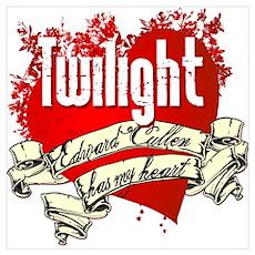 Twilight Tattoo Heart Poster