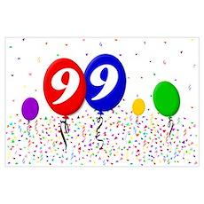 99th Birthday Poster