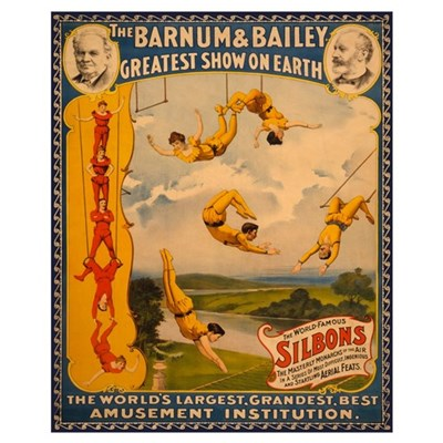 BARNUM AND BAILEY ACROBAT 16x20 Poster