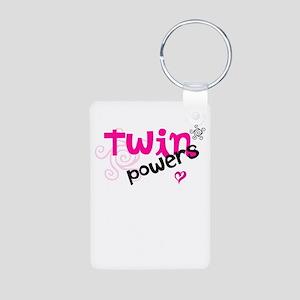 Twin Powers Aluminum Photo Keychain