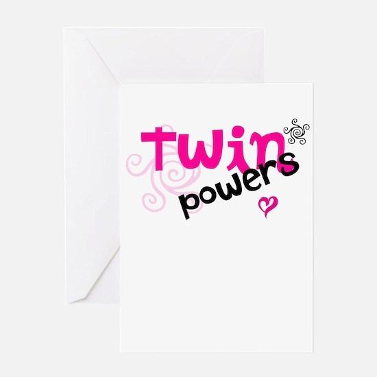 Twin Powers Greeting Card