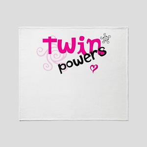 Twin Powers Throw Blanket