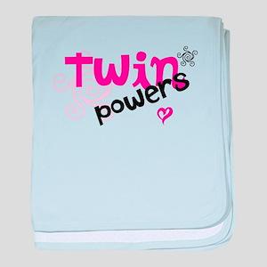 Twin Powers baby blanket