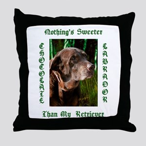 Chocolate Sweet Lab Throw Pillow
