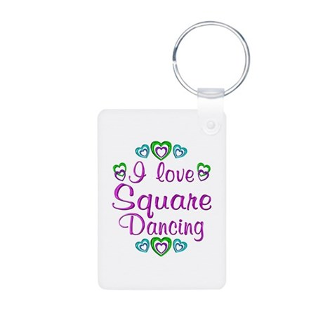 Love Square Dancing Aluminum Photo Keychain