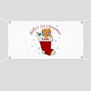 babys 1st christmas banner
