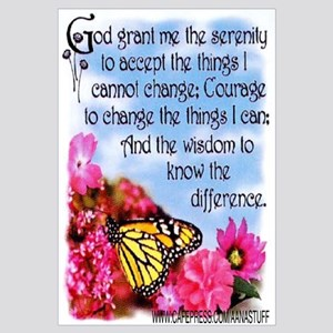 FLOWERED SERENITY PRAYER