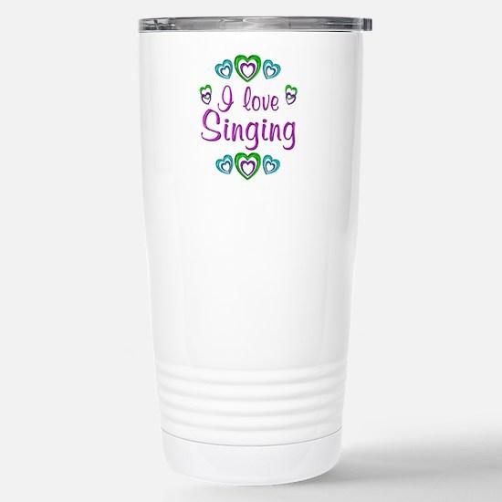 I Love Singing Stainless Steel Travel Mug