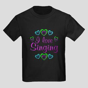 I Love Singing Kids Dark T-Shirt