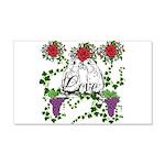 LoveBirds & Roses 22x14 Wall Peel