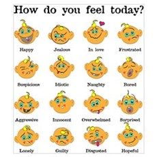 How do you feel today? I Framed Print