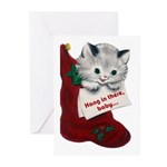 Hang In There Baby Christmas Cards (Pk of 10)