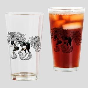 Gypsy Vanner Drinking Glass