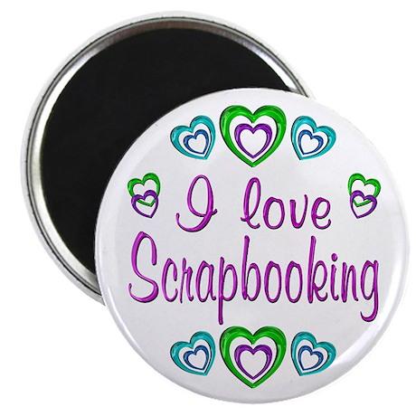 "I Love Scrapbooking 2.25"" Magnet (10 pack)"