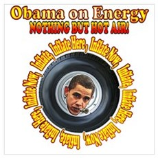 Obama Just inflate it Poster