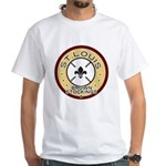 Brown Stockings Logo White T-Shirt