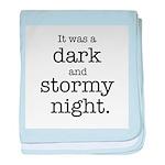 Dark and Stormy Night baby blanket