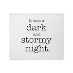 Dark and Stormy Night Throw Blanket