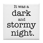 Dark and Stormy Night Tile Coaster