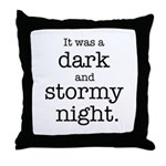 Dark and Stormy Night Throw Pillow