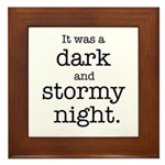 Dark and Stormy Night Framed Tile
