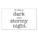 Dark and Stormy Night Sticker (Rectangle 10 pk)