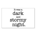 Dark and Stormy Night Sticker (Rectangle 50 pk)