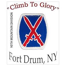 "10th Mountain Div ""Climb To G Pri Poster"