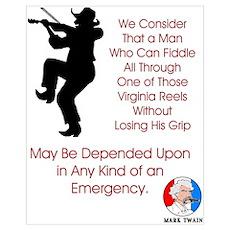 Mark Twain Fiddle Emergency Poster