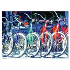 Cyclist Rainbow Poster