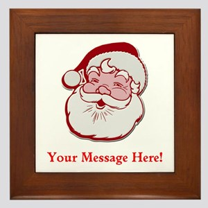 Add Your Own Message To Santa Framed Tile