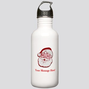 Add Your Own Message To Santa Stainless Water Bott