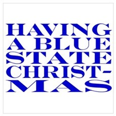 Blue State Christmas Poster