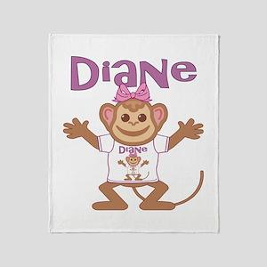Little Monkey Diane Throw Blanket