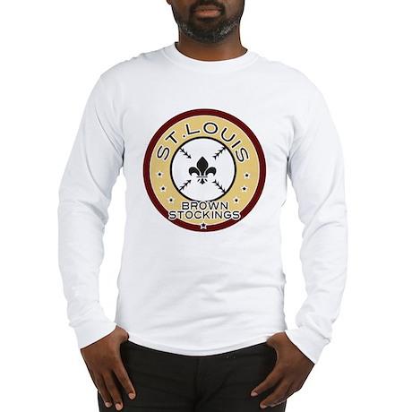 Brown Stockings Logo Long Sleeve T-Shirt