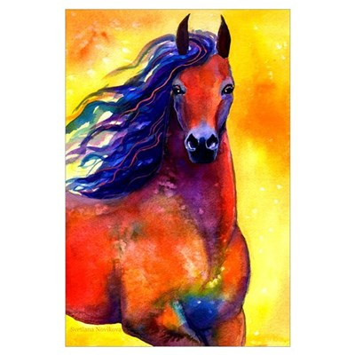 Arabian horse Print Poster
