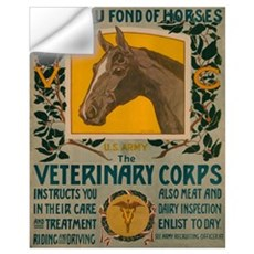 VETERINARY CORPS 16x20 Wall Decal