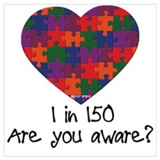 Autism Awareness Month Heart Poster