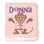 Little Monkey Donna baby blanket