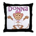 Little Monkey Donna Throw Pillow