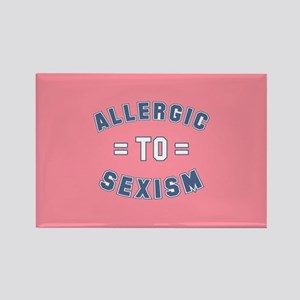 Allergic to Sexism Rectangle Magnet