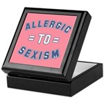 Allergic to Sexism Keepsake Box