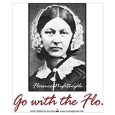 Go with Florence Nightingale! Poster