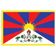 Tibetan Flag Poster