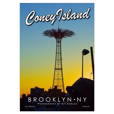 Brooklyn Coney Island Parachute Canvas Art