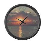 Sunrise Sunset Large Wall Clock