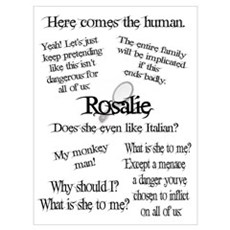 Rosalie Quotes Poster