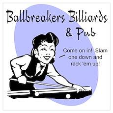 Ballbreakers Billiard Poster